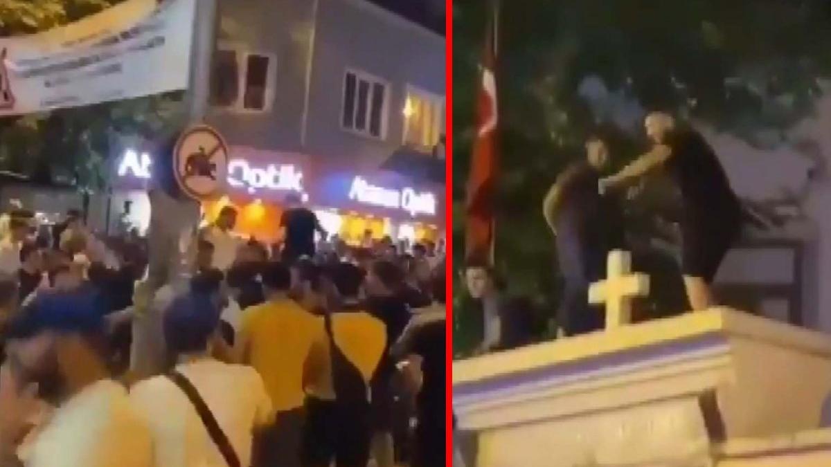 Kilise duvarındaki görüntü tepki çekmişti: 3 kişi gözaltına alındı