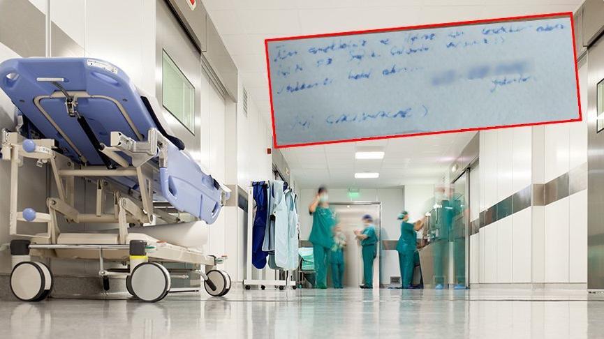 Sağlık çalışanları bu notu hastanede buldu! Valilik teşekkür mesajı yayımladı