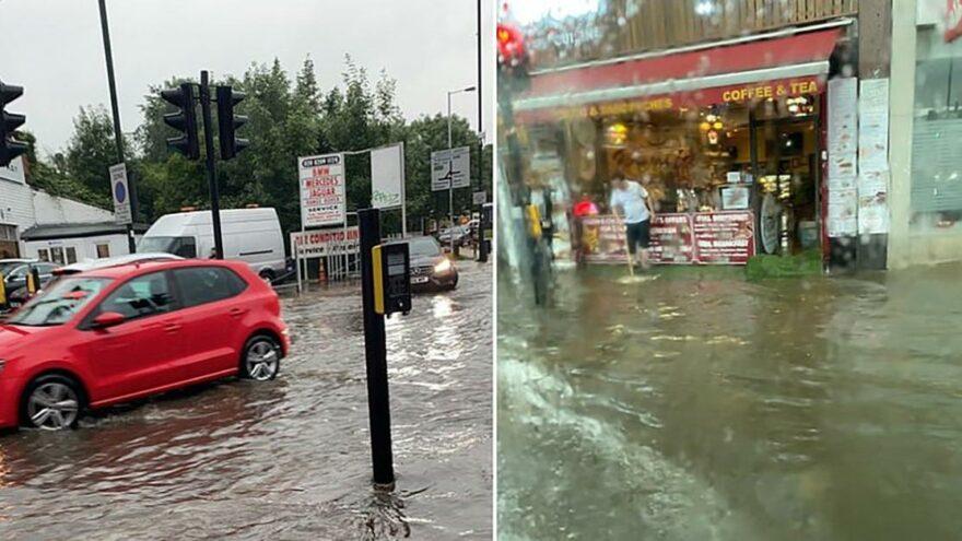 Londra'yı 90 dakikada sel aldı… Uzmanlar uyardı: Sebebi 'süper bodrumlar'