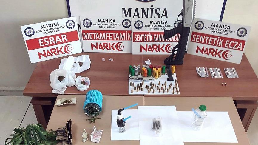 Soma'da uyuşturucu operasyonu: 18 şüpheli gözaltında