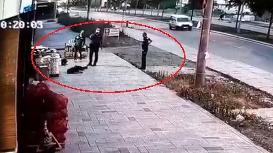 Eşinin öldürdüğü polisin balkondan düşme anı kamerada