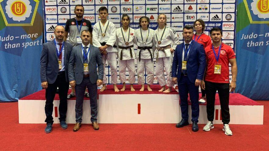 Ümitler Avrupa Judo Kupası'nın ilk gününde millilerden 4 madalya
