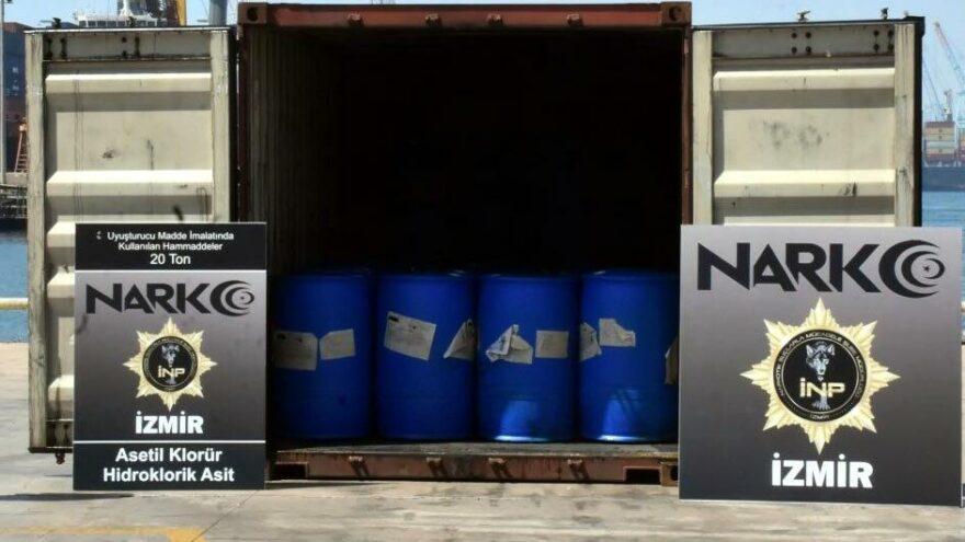 İzmir Aliağa Limanı'nda dev uyuşturucu operasyonu: 26 ton malzeme ele geçirildi