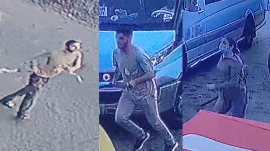 Durak dışında indirmeyen şoföre, önce kendisi sonra çocukları saldırdı
