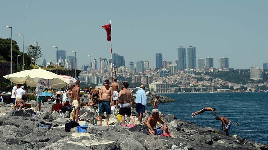 İstanbul'da hissedilen sıcaklık 42 derece oldu