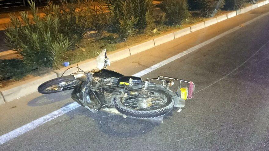 Yaya geçidinde motosikletin çarptığı yaya öldü