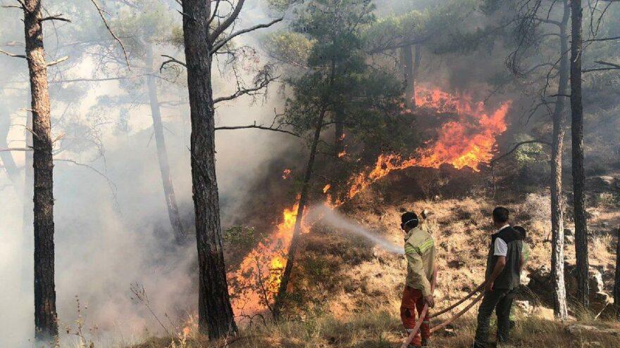 Aydıncık yangını, 50 saat sonra kontrol altına alındı