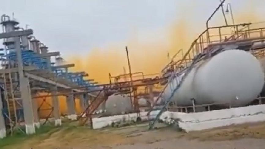 Ukrayna'da patlama: Gökyüzü turuncuya döndü