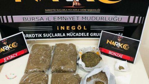Bursa'da operasyon: 2.5 kilo uyuşturucu ele geçirildi