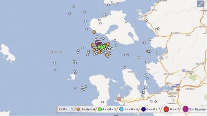 1 saatte 47 deprem oldu