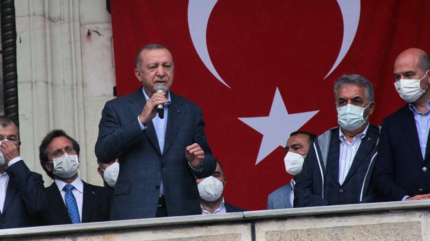 Cumhurbaşkanı Erdoğan: Felaket imtihandır