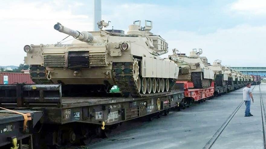 ABD, Türkiye sınırının yanına tankları yığıyor