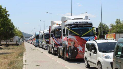 Sünnet çocuğu için 50 TIR'lık konvoy