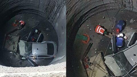 25 metreden metro inşaatına düştü