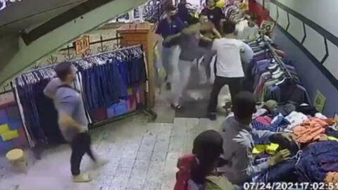 Hırsızlık şüphelisine meydan dayağı