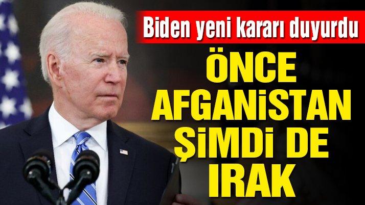 ABD Başkanı Joe Biden'dan Irak kararı