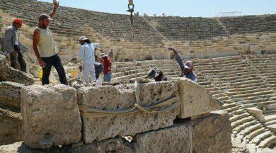 2 bin 200 yıllık tiyatro bin 600 yıl sonra ayağa kaldırıldı