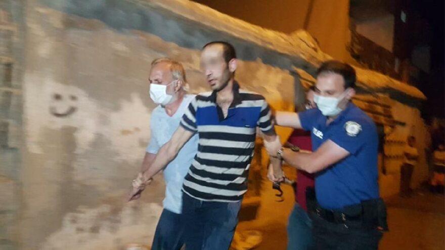 Ailesini rehin aldı, ifadesinin ardından serbest kaldı