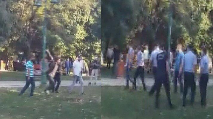 Gezi Parkı'nda seyyar satıcılar zabıtaya saldırdı