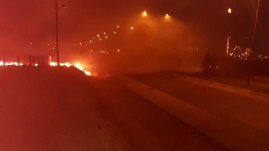 Anız yangını korkuttu! 4 kişi dumandan zehirlendi