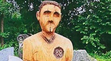 Mezarlıkta heykel krizi... Hitler'e benziyor diye kaldırıldı