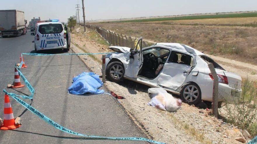 Otomobille TIR çarpıştı, baba kız hayatını kaybetti