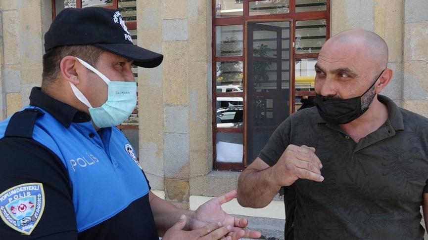 Maske uyarısı yapan polise 'coronaya inanmıyorum' dedi