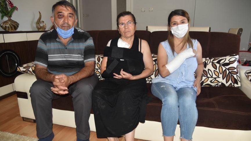 Arsa davasında şahitlik yapan aileye, plaj şemsiyesi sopasıyla dayak