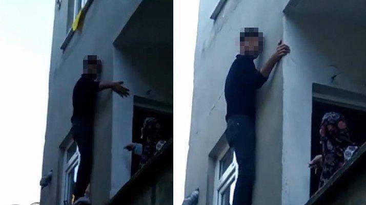 İstanbul'da hırsız mahsur kaldı... Bina sakinlerine yalvardı