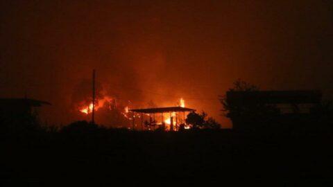 Adana'da yangın nedeniyle 4 köy boşaltıldı