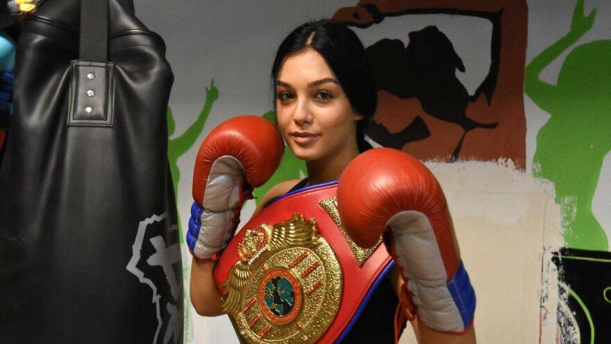 Kilo vermek için boksa başlayan Dilara Yüksel, ilk altın kemerine çok yakın