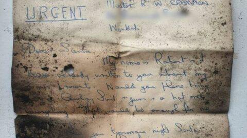 Şömine bacasından çıktı! Mektubun sahibi her yerde aranıyor