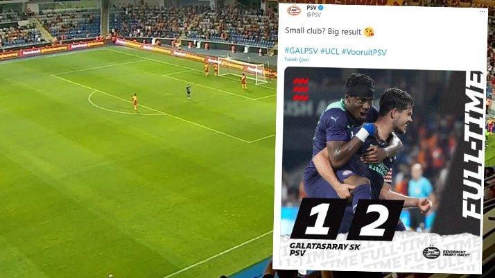 PSV'den Galatasaray'a maç sonu 'küçük kulüp' göndermesi