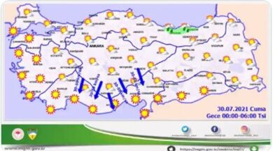 Meteoroloji'den yangın bölgesi için korkutan uyarı