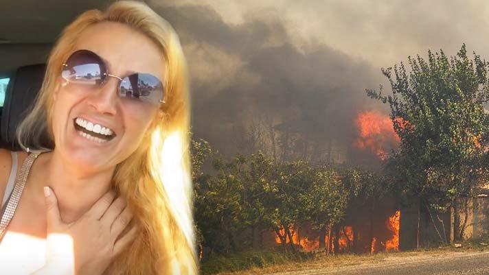 Manavgat'taki yangında çiftliği yanan Tuğba Özay hastanelik oldu