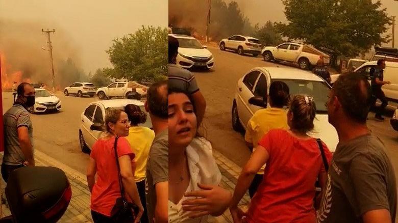 Manavgat'ta vatandaşın yaşadığı panik kamerada