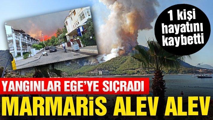 Marmaris'te orman yangını: 1 kişi hayatını kaybetti