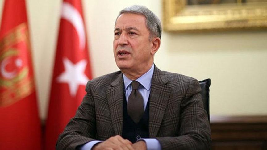 Bakan Akar: Türk askerinin adadaki varlığını farklı şekillerde yorumlamak son derece yanlıştır