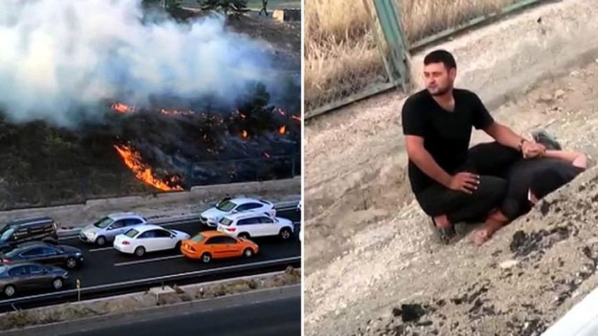 Kışlada yangın çıkaran kişi tutuklandı