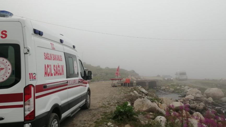Kaçkar'a tırmanışta2 Ukraynalı dağcı kayalığa düştü