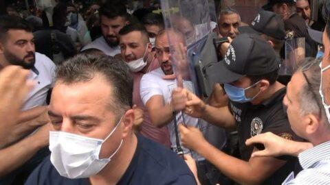 Sahte marka baskını yapan polisle esnaf arasında gerginlik: 5 gözaltı