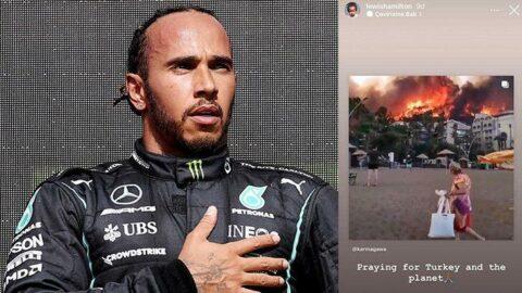 Lewis Hamilton sosyal medya hesabından Türkiye mesajı paylaştı!