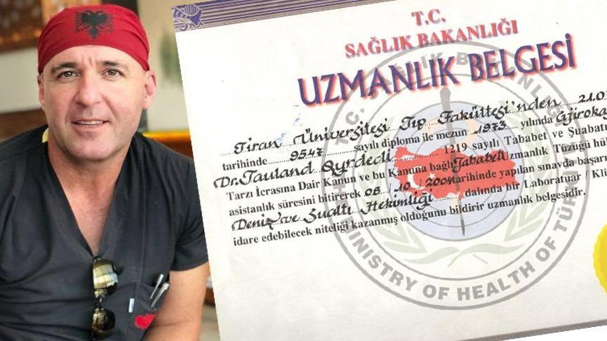 Tıp diplomasında Arnavutluk ismi olan doktor açığa alındı