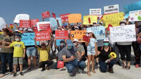 İzmir'de kentsel dönüşüm protestosu