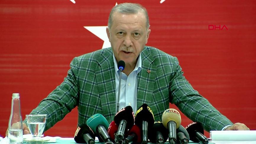 Cumhurbaşkanı Erdoğan'dan 'yangınlarda terör şüphesi' açıklaması: Şimdiden bazı emarelere ulaşıldı