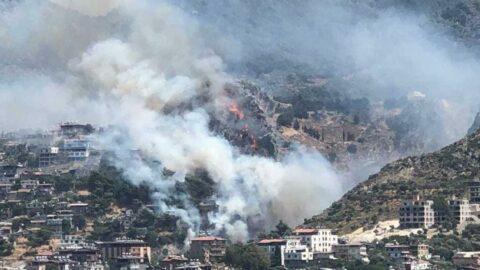 Hatay'da orman yangını: Evler tahliye edildi