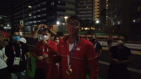 Mete Gazoz'un tarihi başarısı İzmir Marşı ile kutlandı | 2020 Tokyo Olimpiyatları