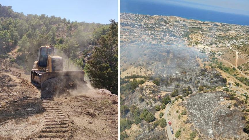 MSB'den KKTC'deki yangın söndürme çalışmalarına destek: Yangın kontrol altına alındı