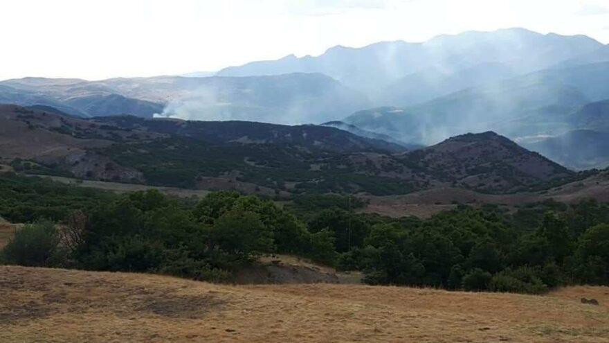 Helikopter bombardımanı sonrası yangın iddiası