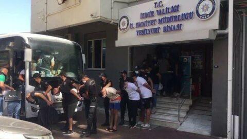 Alaçatı'da 10 kişi tutuklandı